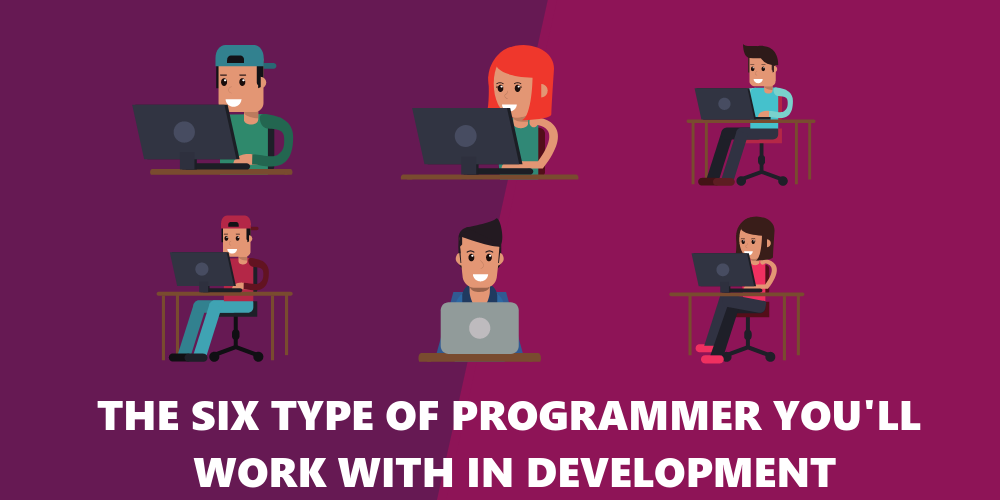 six software developers that indicate the different personality types